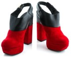 Luxe Dolcie Block Heel Shoes - Red - Euro Size 38 3