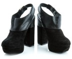 Luxe Dolcie Block Heel Shoes - Black - Euro Size 39 3