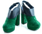 Luxe Dolcie Block Heel Shoes - Blue/Green - Euro Size 39 3
