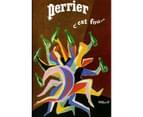 Perrier C'est by Villemot 75 x 50cm Canvas 2