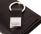 Calvin Klein Trifold Wallet & Key Fob - Brown 3