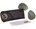 Ray-Ban Aviator Sunglasses - Gold/Green 62-140mm 4