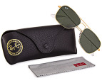 Ray-Ban Caravan Sunglasses - Gold/Green  3