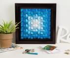 3D Wall Art 40 x 40cm - Blue 1