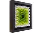 3D  Wall Art 40 x 40cm - Green/White 2