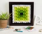 3D  Wall Art 40 x 40cm - Green/White 4