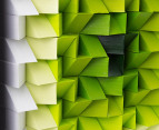 3D  Wall Art 40 x 40cm - Green/White 3
