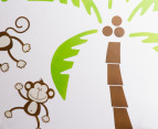 Monkeys in Palm Trees Wall Decal 2