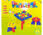 Kiddo Zone Foam Tic Tac Toe Table & Chairs 3