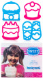 Lunch Punch Set of Four Sweet Sandwich Cutters - Pink/Blue 4