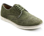 Hush Puppies Men's Carver Shoes - Green Suede 1