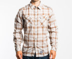Electric Men's Stitchwell L/S Shirt (Small) - Brown 1