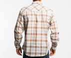 Electric Men's Stitchwell L/S Shirt (Small) - Brown 2