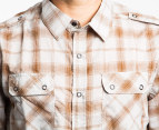 Electric Men's Stitchwell L/S Shirt (Small) - Brown 3