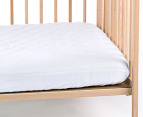Bubba Blue Quilted Waterproof Cot Mattress Protector 3