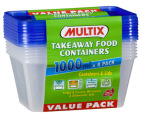 Multix Takeaway Food Containers 8pk 3