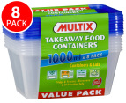 Multix Takeaway Food Containers 8pk 1