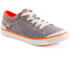 Teva Women's Freewheel Canvas Shoe - Charcoal Grey 4