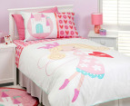 Love Heart Fairy Organic  Single Quilt Set 1