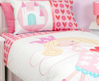 Love Heart Fairy Organic  Single Quilt Set 2