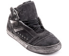 Globe Men's Heathen Hi Top Shoes - Black Wash 4