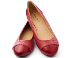 Walnut Women's Dee Faux Python Shoes - Chilli Red 1