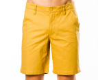 Mr Simple Men's Bailey Shorts - Curry 1