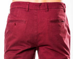 Mr Simple Men's Parkes Chino - Burgundy 3