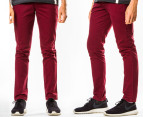Mr Simple Men's Parkes Chino - Burgundy 1