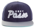 OBEY Men's Posse Snapback Cap - Navy/Grey 1