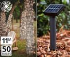 Solar Powered 50-Bulb Fairy Lights - White 1