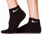 Nike Men's Cushion Quarter Socks 3-Pack - Black 3