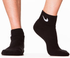 Nike Men's Cushion Quarter Socks 3-Pack - Black 2