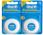 2 x Oral-B Waxed Dental Floss 50m 2