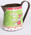 Metal Christmas Watering Can - Multi 7