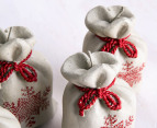 Christmas Sack-Shaped 13cm Candles 4-Pack - Beige/Red 7