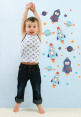 Little Chipipi Moveables Mini Wall Stickers - Outer Space 4