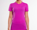 Adidas Women's Ultimate Short Sleeve Tee - Vivid Pink 1