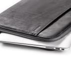 "Incase 13"" Leather Macbook Pro Sleeve - Black/Grey 3"