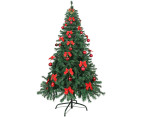 Artificial 2.1m Olive Green Christmas Tree & Ornament Pack  1