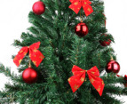 Artificial 2.1m Olive Green Christmas Tree & Ornament Pack  2