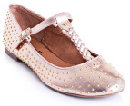 I Love Billy Size EU 38 Berries Flats - Rose Gold 4