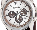 Fossil Men's 45mm Chronograph Watch - Leather Brown 2
