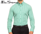 Ben Sherman Long Sleeve Gingham Shirt - Green 1