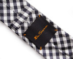 Ben Sherman Gingham Tie - Black 7