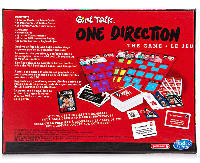 One Direction 'Girl Talk' Board Game