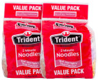 2x Trident 2 Min Noodles Hot & Spicy Thai Flavour 4pk 85g 3