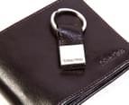 Calvin Klein Glossy Billfold Wallet & Key Fob - Brown 5