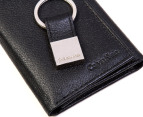 Calvin Klein Leather Trifold Wallet & Key Fob Set - Black 3