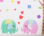 Elephant & Trees Wall Decal/Sticker 3